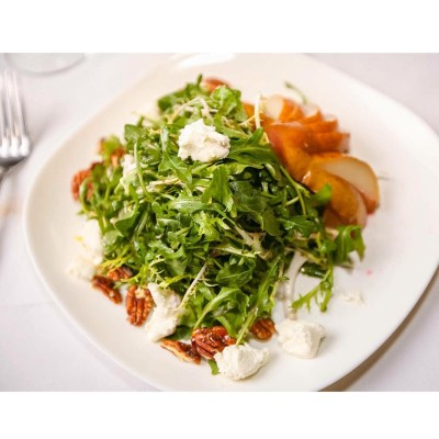 Roast Pear Salad arugula  frisee  goat cheese hellip
