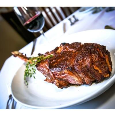 A delicious mouthwatering 24oz Bone in Rib Steak