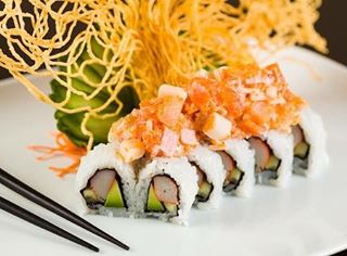 California Roll topped with fresh Spicy Tuna amp a creamyhellip