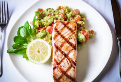 When you eat good you feel great! GrilledSalmon AvocadoSalad