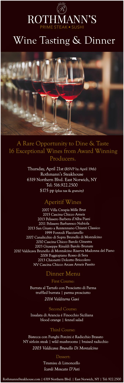 Rothmann's Wine Dinner