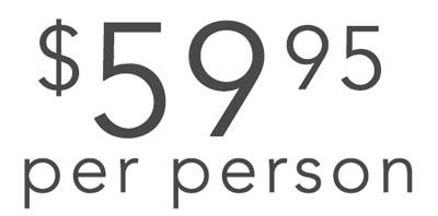 $59.95 per person
